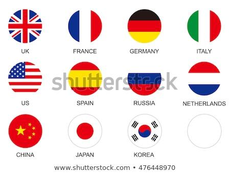 Icono Rusia bandera ilustración diseno fondo Foto stock © colematt