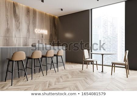 Restaurant interieur 3D klassiek ontwerp bar Stockfoto © maknt