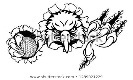 Aigle golf mascotte dessinée oiseau sport mascotte Photo stock © Krisdog