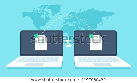 Transfer data network documents and data backup. Stock photo © cifotart