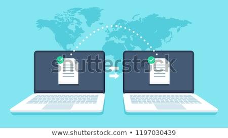 передача · данные · рук · ноутбука · файла - Сток-фото © cifotart