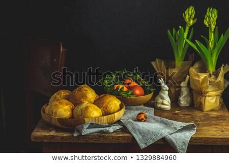 Caseiro prato cartão em pé Foto stock © artsvitlyna