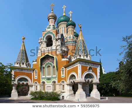 Сток-фото: Церкви · Nice · Франция · здании · город · стены