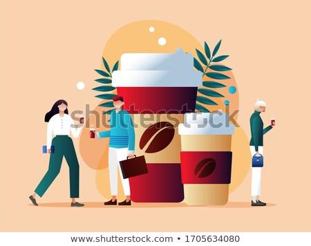 Take away coffee concept landing page. Stock photo © RAStudio