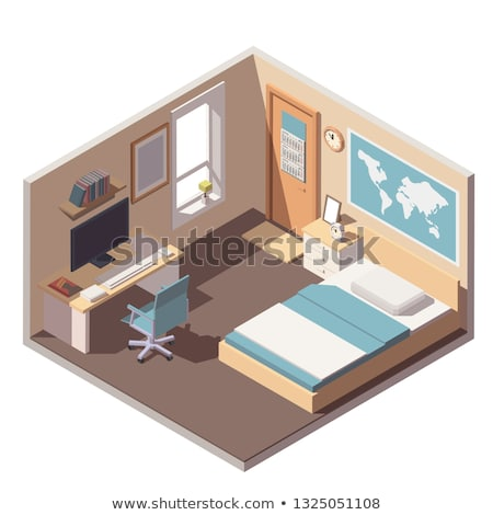 vector isometric bedroom stock photo © tele52