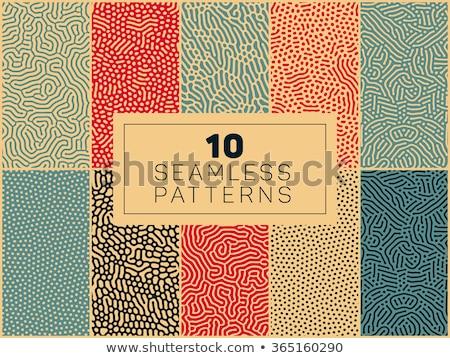 Hullámos vonal végtelen minta absztrakt mértani szövet Stock fotó © Terriana