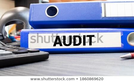 監査 言葉 文書 デスク クローズアップ ストックフォト © AndreyPopov