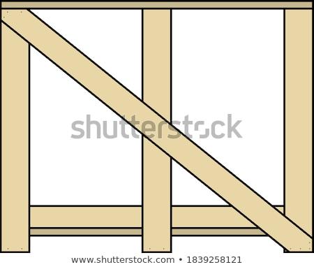 Holz fragile Waren Symbol Farbe Schatten Stock foto © angelp