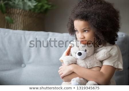 Fille Nounours illustration enfant fond Photo stock © colematt