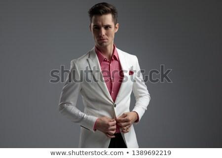 серьезный · молодые · бизнесмен · глядя · далеко · далеко - Сток-фото © feedough