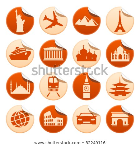 China sticker zicht icon vector Stockfoto © robuart