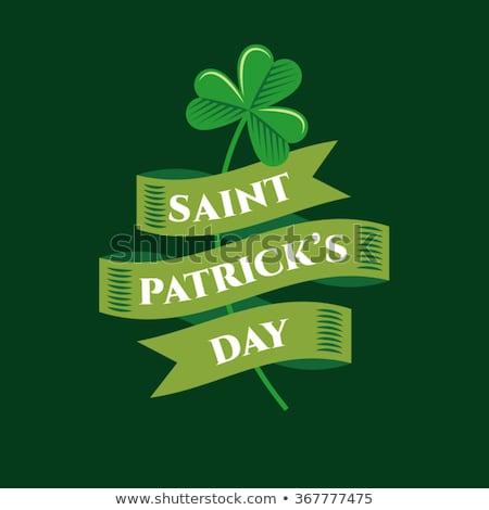 Día de san patricio Irlanda bandera feliz diseno verde Foto stock © SArts