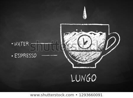 Tebeşir kroki espresso kahve vektör Stok fotoğraf © Sonya_illustrations