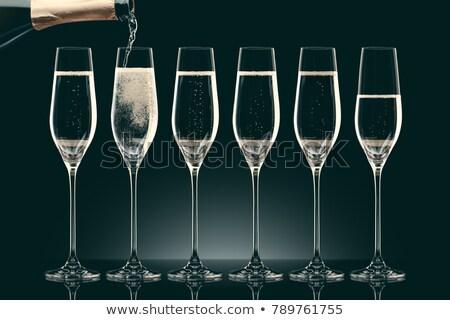 シャンパン · クローズアップ · ショット · 男 · ガラス - ストックフォト © dashapetrenko