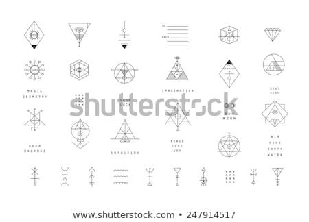 Ayarlamak moda vektör simya semboller toplama Stok fotoğraf © netkov1