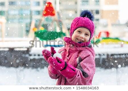 Noel tatil çocuklar oynama mutlu kartpostal Stok fotoğraf © robuart