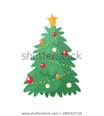 Tree Decoration Balls and Chaplet Vector Isolated Stock photo © robuart