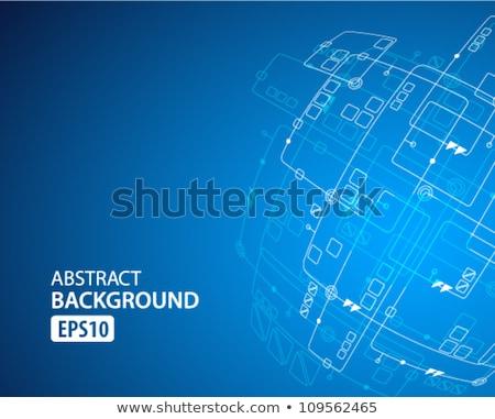 technologie · mooie · vector · verbinding · netwerk · illustratie - stockfoto © designleo