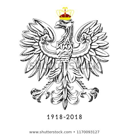 Ilustracja Polska strony projektu tle sztuki Zdjęcia stock © Arkadivna