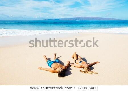 портрет соответствовать любителей тропический пляж тропические горячей Сток-фото © majdansky