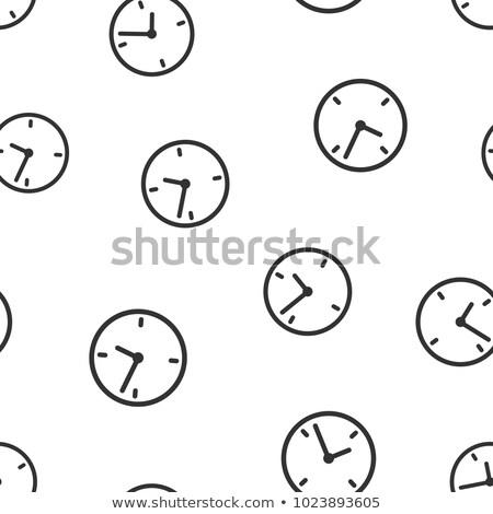 zwarte · klokken · icon · ingesteld · 10 - stockfoto © netkov1