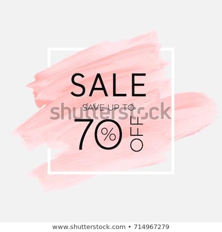 Spring Sale 70 Percent Price Promotional Banner Stock fotó © robuart