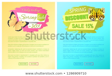 Stockfoto: Spring Discount Sale 15 Off Emblems Set Web Pages