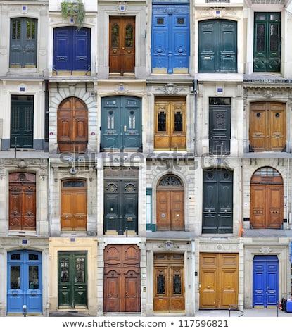 Antica italiana metal porta rosolare legno Foto d'archivio © marylooo