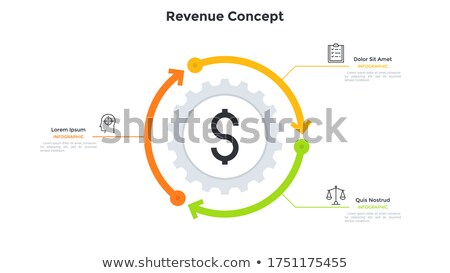 Icon of gear wheels with dollar sign for financial process concept Stock photo © ussr