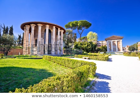 Temple of Portuno acient landmark of eternal city of Rome Stock photo © xbrchx