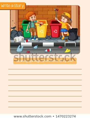 Yazmak temizlik öykü örnek okul arka plan Stok fotoğraf © colematt