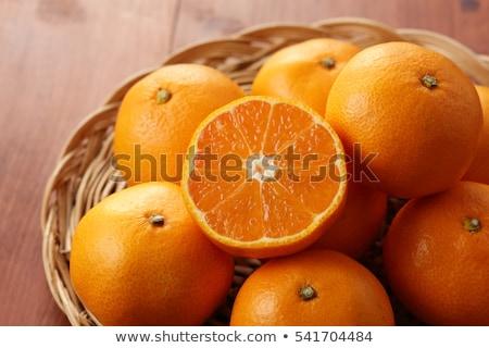 Japonais mandarin orange illustration alimentaire fruits Photo stock © Blue_daemon