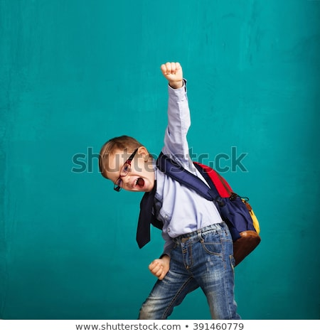 A Back to school. Happy little boy with backpack Stock photo © Lopolo