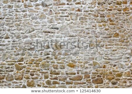 Full frame muro di pietra dettaglio shot costruzione muro Foto d'archivio © prill