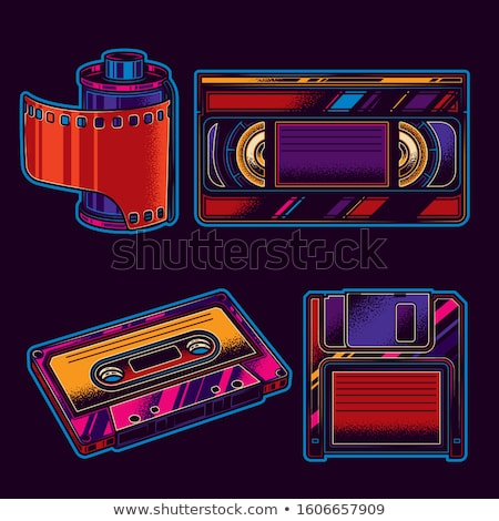 Floppy Disk Neon Label Stock photo © Anna_leni