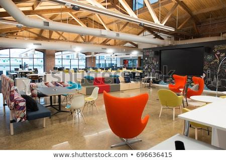 moderna · interior · negocios · ciudad · pared - foto stock © pressmaster