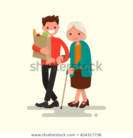 Care for Older People, Volunteer with Old Lady Stock photo © robuart