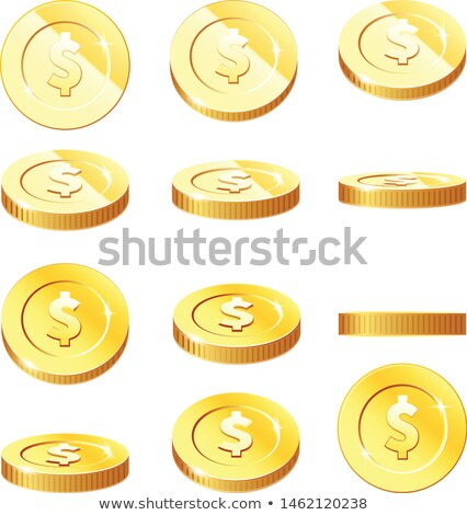 Golden coins set in rotation stages - flying money in different  Stock photo © Winner
