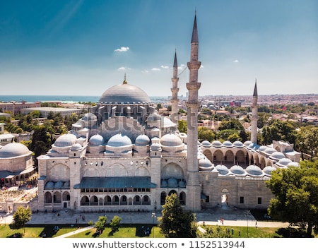 minaret of suleymaniye mosque in istanbul turkey stock photo © boggy