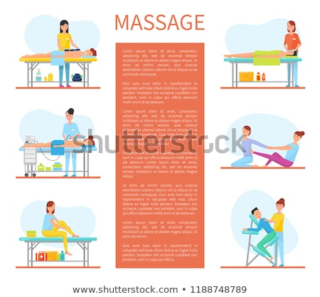 Back and Abdominal Massage Therapy Set Vector Stock photo © robuart