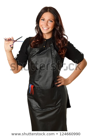 Very attractive and stylish professional hairdresser woman Stock photo © Lopolo