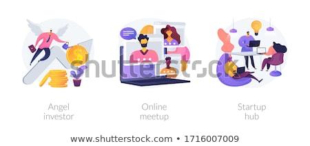 Online meetup concept vector illustration Stock photo © RAStudio