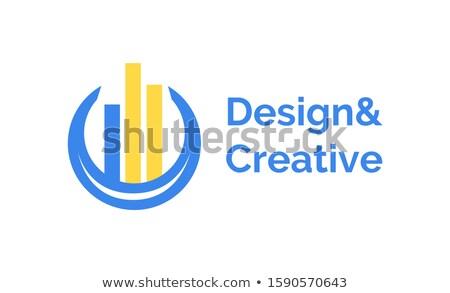 Etiqueta colunas companhia logotipo vetor forma Foto stock © robuart