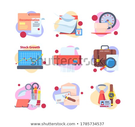 Cartoon zakenlieden dagelijks werken blanke man Stockfoto © robuart