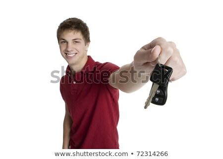 Atractivo las llaves del coche aislado blanco Foto stock © Lopolo