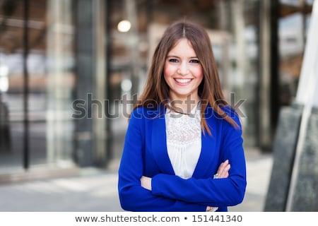 Portret teen girl długie włosy miejskich środowiska kobieta Zdjęcia stock © Lopolo