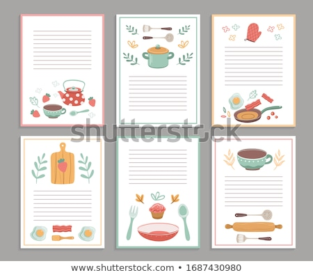 Recipe Book Notes with Lines for Food Preparation Stock photo © robuart