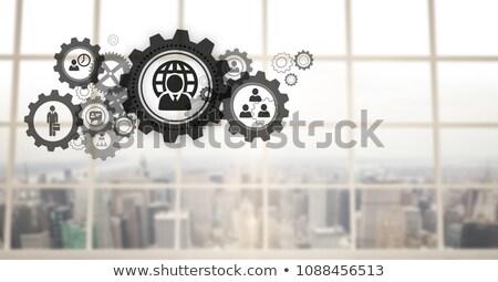 kantoor · versnelling · foto · student · witte · papier - stockfoto © wavebreak_media