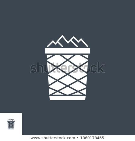Szemét tároló vektor ikon izolált fehér Stock fotó © smoki