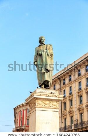 Milánó Olaszország olasz férfi város építészet Stock fotó © boggy
